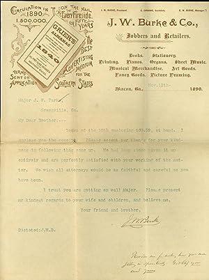 Letter, J. W. Burke & Co.: Burke, J. W.
