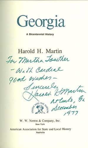 Georgia: A Bicentennial History: Martin, Harold H.