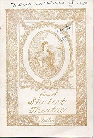 Shubert's Theatre Playbill: Ann Boyd by Will Harben
