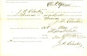 Deputy Marshal Expense Voucher for Service in Indian Territory: Upham, Daniel P.