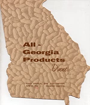All-Georgia Products Dinner 82nd Annual GPA Convention June 20, 1968, Callaway Gardens