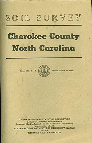 Soil Survey Cherokee County, North Carolina: Perkins, S. O. and William Gettys