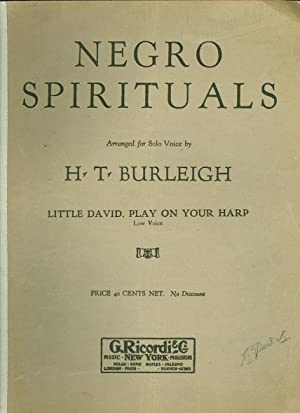 Negro Spirituals: Little David, Play on Your Harp: Burleigh, H. T. (arrangement)