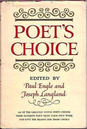 Poet's Choice: Engle, Paul and Joseph Langland (eds.)