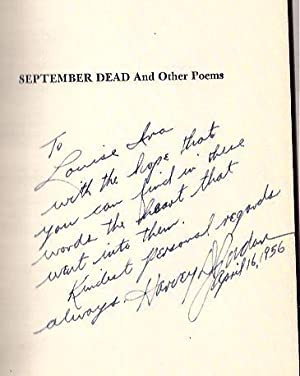 September Dead and Other Poems: Jordan, Harvey