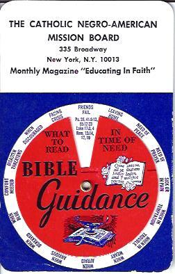 Bible Guidance Device: The Catholic Negro-American Mission Board