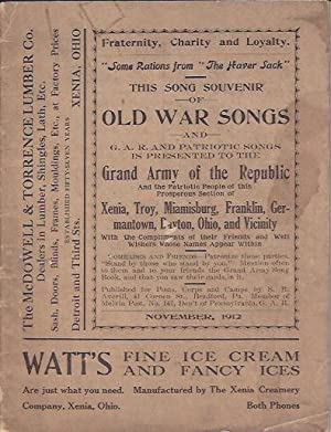 This Song Souvenir of Old War Songs and G. A. R. and Patriotic Songs: Grand Army Of The Republic