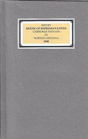 Cherokee Indians in North Carolina: Thompson, Jacob, Et. Al. (House Of Representatives)