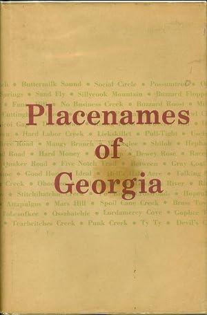 Placenames of Georgia Essays of John Goff: Goff, John H.