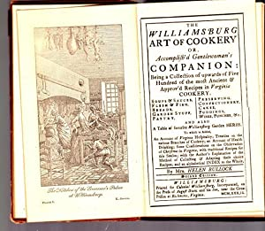 The Williamburg Art of Cookery or Accomplish'd Gentlewoman's Companion