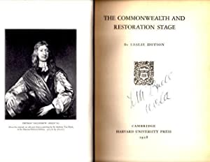 The Commonwealth and Restoration Stage: Hotson, John Leslie