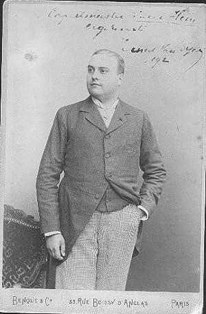 ERNEST VAN DYK (1861-1923) belgischer Opernsänger, Heldentenor: ERNEST VAN DYK (1861-1923) ...