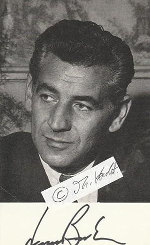 """LEONARD BERNSTEIN (1918-90) amerikanischer Komponist """"West Side: LEONARD BERNSTEIN (1918-90)"""