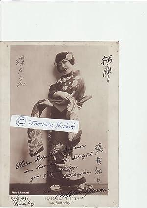 HATSUE YUASA (1903- ?) japanischer Sopran, verheiratet mit dem Pianisten Walther Carl Meiszner, ...