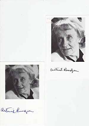 """ASTRID LINDGREN (1907-2002) schwedische Kinderbuchautorin """"Pippi Langstrumpf """": ASTRID ..."""