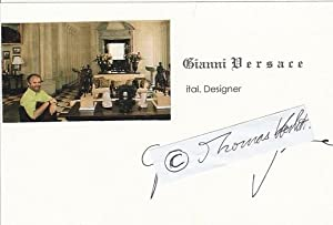 GIANNI VERSACE (1946-97 ermordet) italienischer Star-Designer: GIANNI VERSACE (1946-97