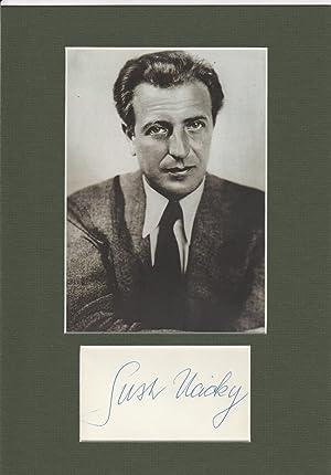 GUSTAV UCICKY (1899-1961) österreichischer Filmregisseur, unehelicher Sohn: GUSTAV UCICKY (1899-1961)