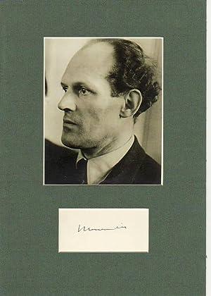 WILLY MESSERSCHMITT (1898-1978) Professor Dr., dt. Flugzeugkonstrukteur, u.a. ME 109, erste ...