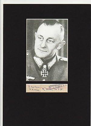 KARL MAUSS (1898-1959) dt. Generalleutnant, Dr.med., Ritterkreuz mit Eichenlaub, Schwertern und ...