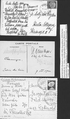 Eberhard von Mackensen (1889-1969) dt. Generaloberst, 1939: Eberhard von Mackensen
