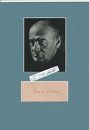MAX SCHELER (1874-1928) Professor Dr., deutscher Philosoph,: MAX SCHELER (1874-1928)