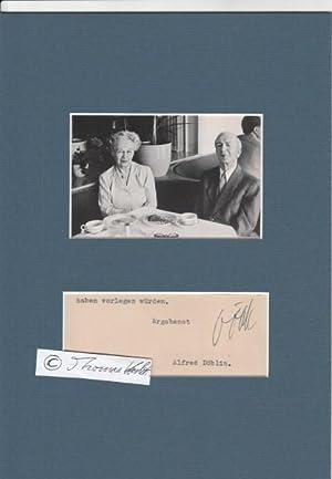 ALFRED DÖBLIN (1878-1957) Dr.med., deutscher Psychiater und: ALFRED DÖBLIN (1878-1957)