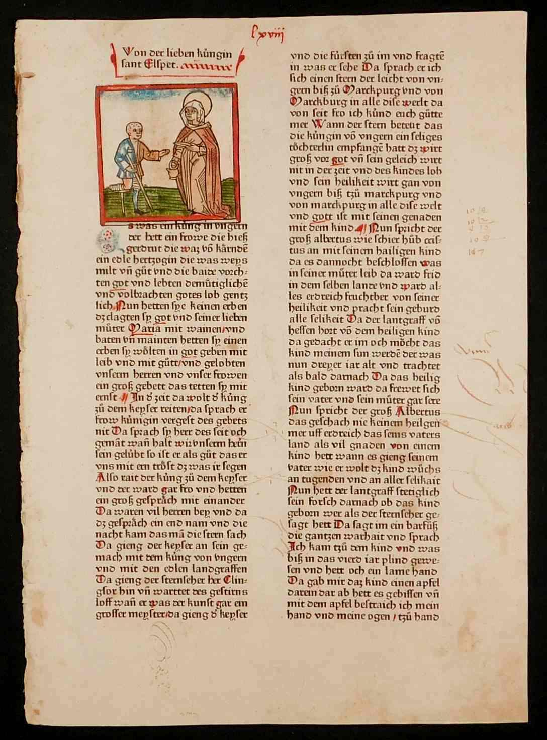 """Legenda Aurea deutsch. Blatt LXVIII. """"Von der: Voragine, Jacobus von:"""