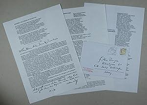 l.d.s. - Gedruckter Rundbrief mit handschriftlichen Ergänzungen.: Biermann, Wolf: