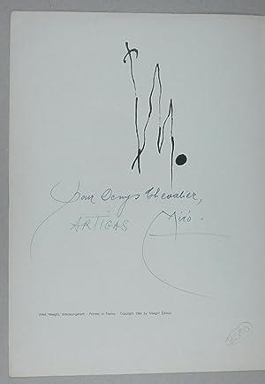 Miró - Artigas.: Derrière le miroir.