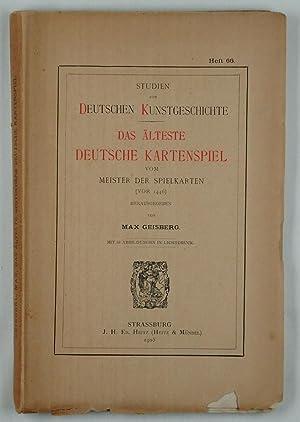 Das älteste deutsche Kartenspiel vom Meister der Spielkarten (vor 1446).: Giesberg, Max: