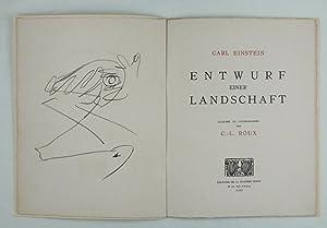 Entwurf einer Landschaft. Illustré de lithographie par C.-L. Roux. (d.i. Gaston-Louis Roux): ...
