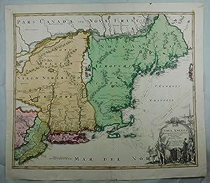 Nova Anglia Septentrionali Americae implantata Anglourumquae coloniis florentissima, Geographice ...