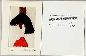 An Angle. Mit sieben Originallithographien von Giuseppe: Pound, Ezra und