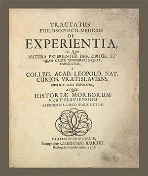 Historia morborum, qui annis MDCIC, MDCC. MDCCI Vratislaviae grassati sunt, a colleg. acad. Leopold...