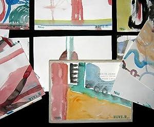 17 Original-Aquarelle+ 1 Original-Aquarell, montiert auf Kartonschachtel. 15,5x21,5 cm.: ...