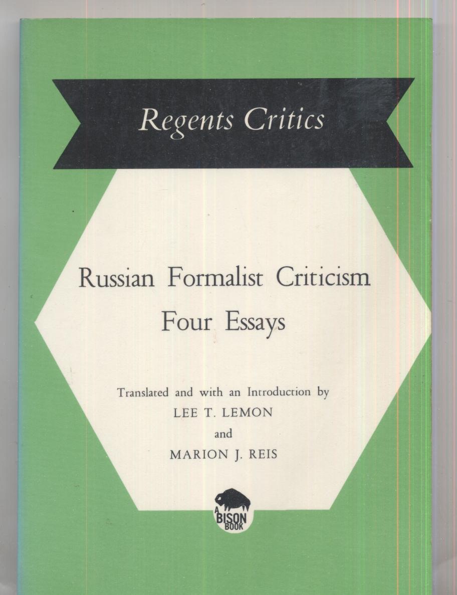 russian formalist criticism four essays