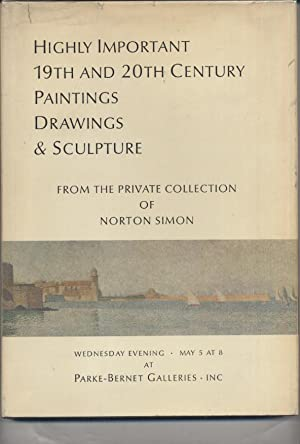 Highly Important 19th and 20th Century Paintings Drawings & Sculpture