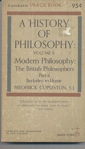 A History of Philosophy British Philosophers: Frederick Copleston
