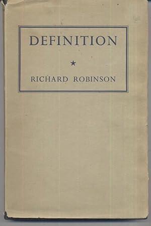 Definition: Richard Robinson