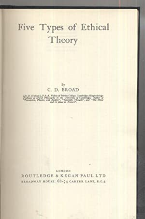 Five Types of Ethical Theory: C D Broad
