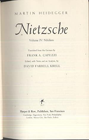 Nietzsche: Nihilism: Martin Heidegger,