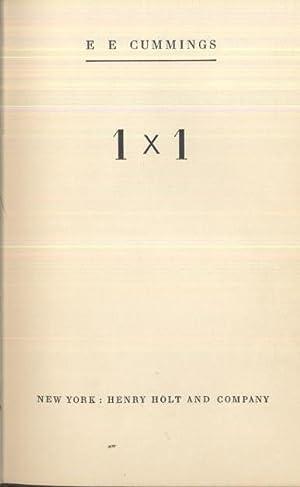 1 x 1: ee. cummings