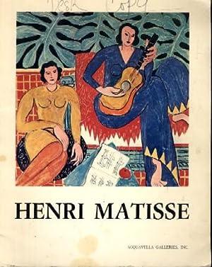 Henri Matisse 1869-1954: Clement Greenberg