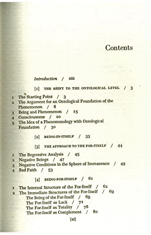 Sarte's Ontology: Klaus Hartmann