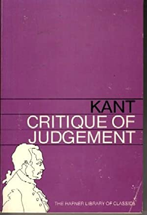 Critique of Judgement: Immanuel Kant;
