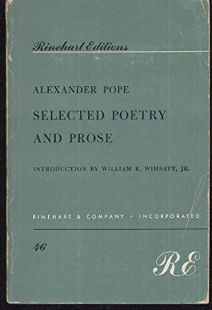 Alexander Pope Selected Poetry and Prose: Alexander Pope /