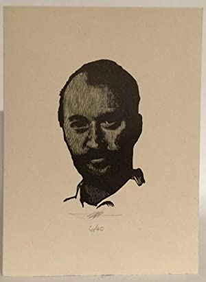 Engraved Portait of Larry Brown. 1-40 SIGNED.: Brown, Larry [Moser,