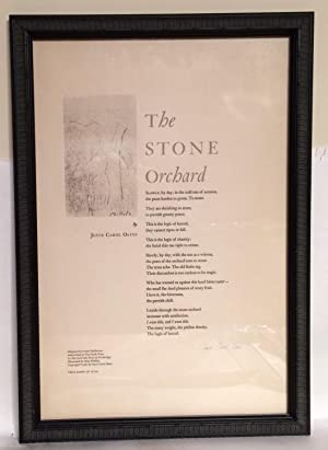 The Stone Orchard. Broadside.