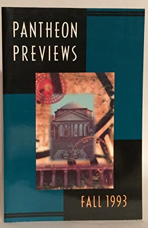 Pantheon Previews Fall 1993. SIGNED.: Berry, Wendell