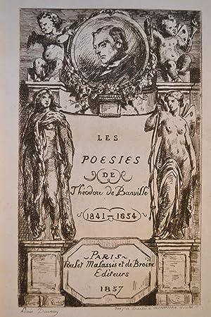 Les Poésies. 1841-1854.: BANVILLE, Théodore de;
